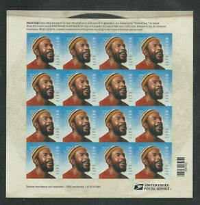 2019 #5371 Marvin Gaye Pane of 16 Forever Stamps Music Icons Series Soul Legend