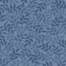 Harmony Cotton By Quilting Treasures - Denim Leaf