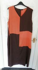 ZANZEA Ladies Size 20 (3XL) Orange Brown Terracotta Long Shift Lagenlook Dress