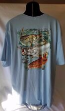 MENS NEW RUGGED EARTH OUTFITTERS 3XL Inshore Slam S/S T-SHIRT Redfish Snook NICE