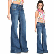 Women's Low Flared, Kick Flare Faded Jeans