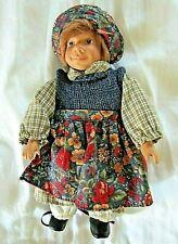 "Vintage ""Tregaardens Julehus"" Folk Dressed 10"" Girl Doll-Norway"