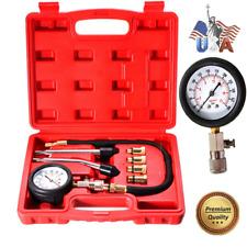 Complete 8 Pcs Professional Engine Cylinder Compression Tester Kit Tool Motor US