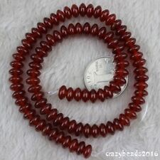 "5x8mm Rondelle Carnelian Red Agate Onyx Gemstone Loose Beads Strand 15"" AAA"