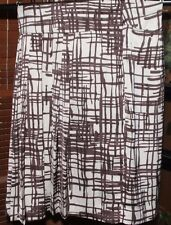 NWT S Limited silk cream & brown skirt w/ side pleats on left was 59.50