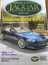 JAGUAR ENTHUSIAST MAGAZINE NOV 2005 INSPECTOR MORSE MARK 2 INTERNET BUYING MARK1