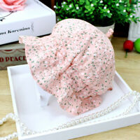 Newborn Baby Girls Princess Birthday Cotton Bowknot Flower Hat Cap Beanie Bonnet