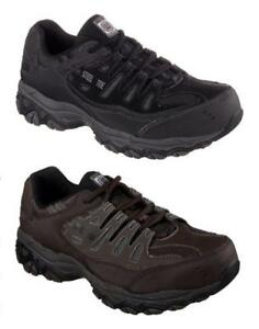 SKECHERS Relaxed Fit Steel Toe Work Shoes, Med & Wide  ASTM F2412-2011 I/75 C/75