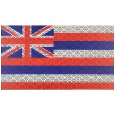 Reflective Hawaii State Flag - 2x3.5 Patch