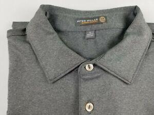 PETER MILLAR Summer Comfort Men`s Golf Shirt S/S Gray BMW Size L   #3000