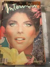 VINTAGE ANDY WARHOL'S INTERVIEW MAGAZINE APRIL 1983 CLIO GOLDSMITH COVER