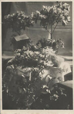 ORIGINAL VINTAGE PHOTOGRAPH OF FUNERAL FLOWER ARRANGEMENTS
