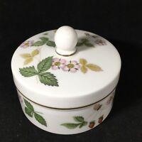 Wedgwood Bone China Trinket Box Wild Strawberry Made in England