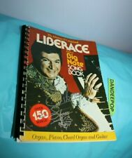 Liberace Big Note Song Book 1977 Signed Autographed