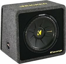 "Kicker 40VCWS124 CompS 12"" 4-Ohm Car Subwoofer in Vented Sub Enclosure VCompS12"