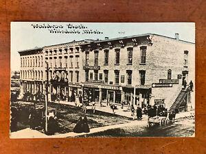 Michigan, MI, Hillsdale, Waldron Block, Godfroy Crockery, C.U. Williams, ca 1910