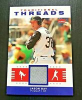**VERY NICE** 2006 Fleer Traditional Threads JASON BAY Game Used Jersey Card