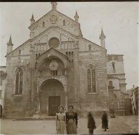 Italia Davanti Una Cattedrale Ca 1910 Foto Stereo Placca Da Lente VR11x
