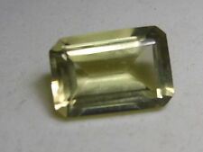 BEAUTIFUL 15 CT RECTANGLE  SHAPE  NATURAL LEMON TOPAZ GEM STONE FROM SRI LANKA