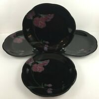 Set of 4 VTG Dinner Plates Mikasa Tango Rondo Lavender Floral EJ702 Japan