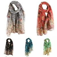 Scarves Floral Long Shawl Elegant Women NEW Scarf Bird Printed Warm Wrap