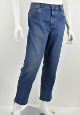 HILTL Medium Blue Wash Stretch Denim NOAH Classic Fit Relaxed JEans 36 x 27