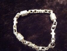 #101 VINTAGE STERLING SILVER BRACELET-925-VERY DIFFERENT AND ESTATE FIND
