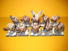 Oger - Ogre - Ogors - 10x well painted Bulls - gut bemalte Ogerbullen