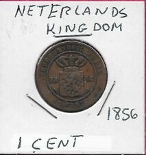 Netherlands Kingdom 1 Cent 1856 William Iii,Value In Javanese And Malayan Text,C