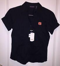 Women's Auburn University Tigers Navy Blue Button Up Small S Shirt NWT