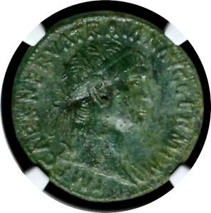 TRAJAN - NGC Ch XF 4/5 3/5 - LARGE Dupondius - Roman Empire - 98-117 AD NICE 090