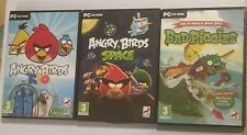 3 x PC CD-ROM GAMES ANGRY BIRDS RIO + ANGRY BIRDS SPACE & BAD PIGGIES By ROVIO