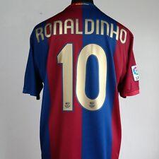 Barcelona Home Football Shirt Adult XL RONALDINHO #10 2006/2007