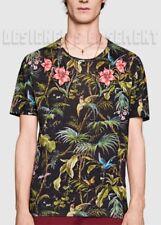 GUCCI men Linen XXL black TROPICAL print APPLIQUE FLOWERS T-shirt NWT Auth $670!