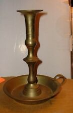 Vtg Brass Chamber Candle Holder