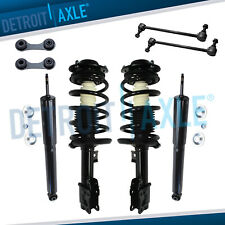 Chevy Malibu Struts Coil Assembly + Shock Absorbers + Sway Bars for Front & Rear