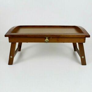 Portable Wooden Folding Lap Tray Lap Desk Serving Tray Bed Table Laptop Lap Desk