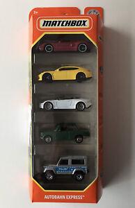2021 MATCHBOX 5 Pack - Autobahn Express (Ford GT, Porsche, DBS, BMW, Land Rover)