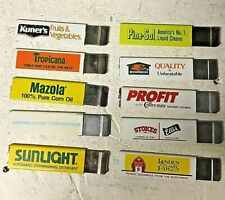 -LOT OF 10-  Used box cutters- Vintage advertising-