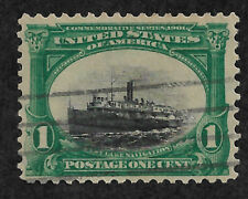 Us #294 (1901) 1c Fast Lake Navigation - Used w/thins - Efo: Color Shift - Fine