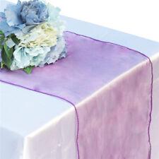 "12""x108"" Organza SASH Table Runner Wedding Party Banquet Decorations 20+ Colors!"