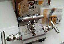 Whitey Swagelok New Instrument Manifold Valve 1/2 NPT SS316 6000PSI SS-M3PDF8-FL