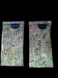 TWO CORK SUNGLASSES GLASSES SOFT CASE WITH BLACK ACCENTS