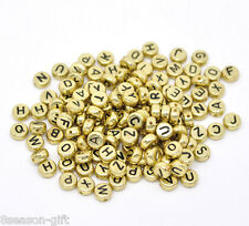 500Mixed Alphabet/Letter Acrylic Spacer Bead 7mm B13219