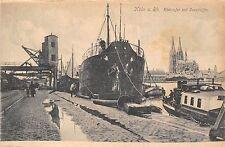 POSTCARD   GERMANY   KOHN   Rheinufer  mit  Seeschiffe