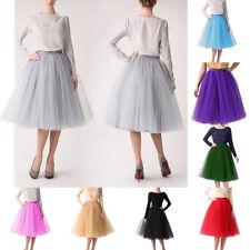 Neu 14 Farben Tütü Tutu Damen Ballet 5 Lagen Ballettkleid Tüll Rock Petticoat