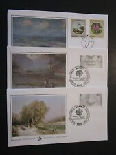 WW 7 1986 Europa First Day Covers Gurnsey, Germany, etc / Fleetwoods - M3