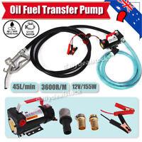 12V 45L/min Electric Bowser Fuel Transfer Pump Station Diesel Oil Fuel Auto AU