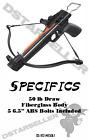 50lb Hunting Pistol Crossbow Metal or Fiberglass *5 Bolts Included*