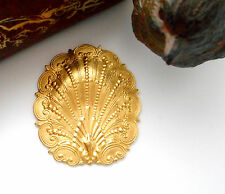 Brass (2 Pieces) Ornate Shell Stampings Nautical Finding (Fb-6082)